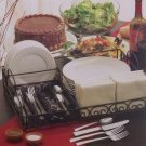 NEW 57-pc Black Scroll Iron Buffet Set