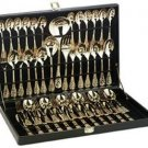 NEW 51pc Gold Plated Flatware Set