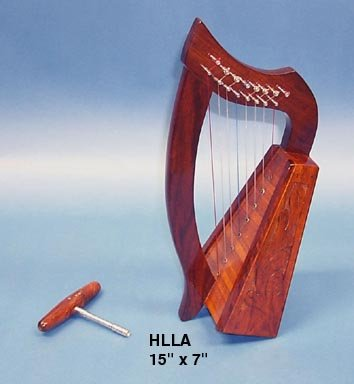 Baby Harp Engraved with Tuning Key - 9 Strings