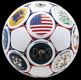 Soccer Ball United States Flags