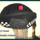 CP Brand Irish - Scottish Glengarry Hat Blk/Wht Dice - Free Shipping