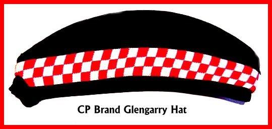 CP Brand Irish - Scottish Glengarry Hat Red/White Dice - Free Shipping