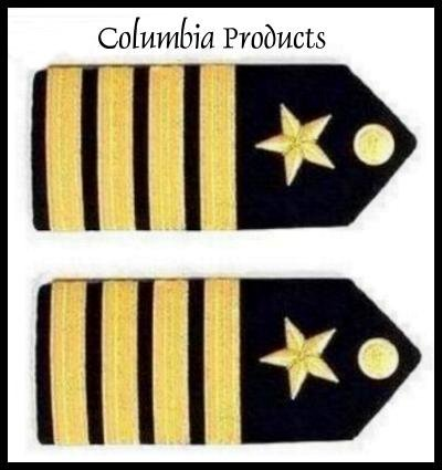 CP Brand NEW US NAVY HARD Shoulder Boards FOR CAPTAIN Rank - Columbia Products
