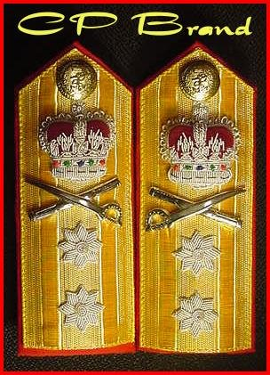 NEW UK ROYAL NAVY Hard Shoulder Board REAR ADMIRAL (NEW) Rank TWO STARS - CP BRAND By COLUMBIA