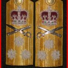 NEW UK ROYAL NAVY Hard Shoulder Board VICE ADMIRAL Rank THREE STARS - CP BRAND By COLUMBIA