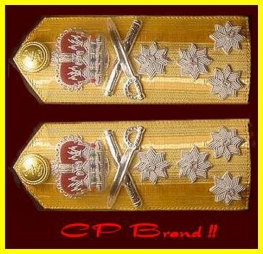 NEW UK ROYAL NAVY Hard Shoulder Board ADMIRAL Rank FOUR STARS - CP BRAND By COLUMBIA