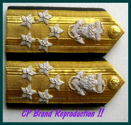 CP Brand NEW US COAST GUARD Shoulder Boards FLEET ADMIRAL 5 Stars Rank, COLUMBIA PRODUCTS