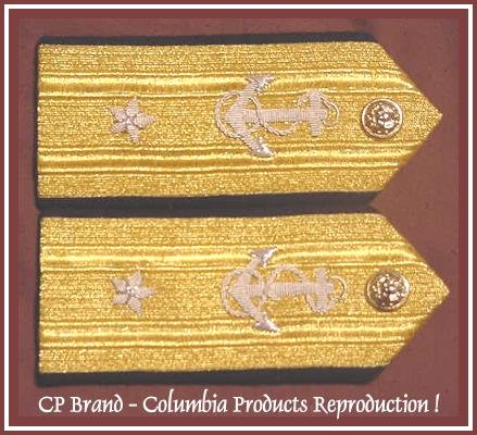 CP Brand NEW US NAVY Hard Shoulder Boards REAR ADMIRAL (Lower Half) 1 Star Rank, COLUMBIA PRODUCTS