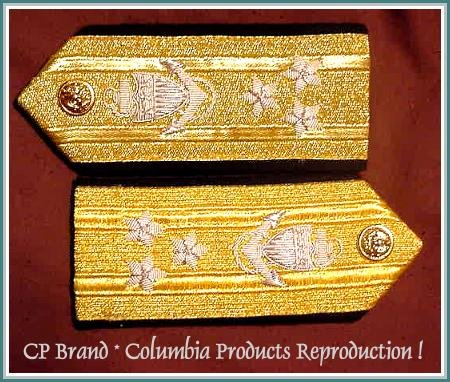 CP Brand NEW US NAVY Hard Shoulder Boards VICE ADMIRAL 3 Stars Rank, By COLUMBIA PRODUCTS