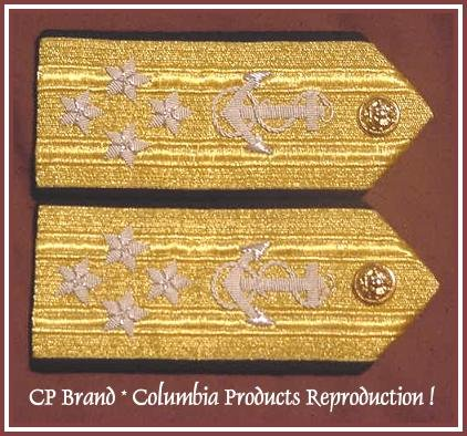 CP Brand NEW US NAVY Hard Shoulder Boards ADMIRAL 4 Stars Rank, By COLUMBIA PRODUCTS