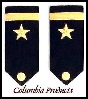 CP Brand NEW US NAVY HARD Shoulder Boards FOR ENSIGN Rank - Columbia Products