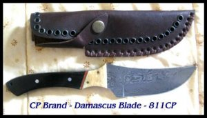 CP Brand Damascus Blade Hunting Knife - New - FREE SHIP