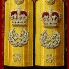NEW UK ROYAL NAVY HARD Shoulder Boards FLEET ADMIRAL