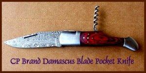 CP Brand Damascus Blade Pocket Knife - New - FREE SHIP