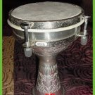 "NEW Silver Doumbek Djembe 6"" X 8"" DRUMS CP BRAND Cute"
