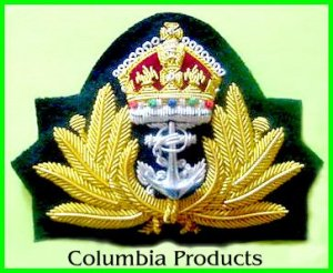 ROYAL NAVY OFFICER HAT CAP CAPT. Bullion Badge KING NEW