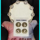 CP BRAND ZILLS FINGER CYMBALS & TAMBOURINE SET NEW DEAL