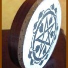 "CP Brand New Bodhran 16"" Hand Carved Printed Star Brown"