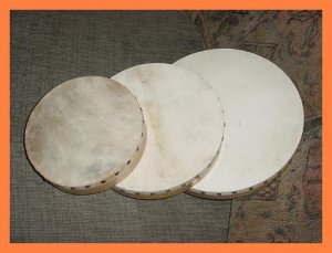 CP HAND DRUMS Brand New Set Of Three (3) With 3 Beaters
