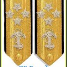 NEW US NAVY HARD Shoulder Boards ADMIRAL 4 Stars (CP)