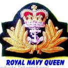 ROYAL NAVY OFFICER HAT CAP CAPT. Queens Crown BADGE NEW