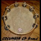 SIX (6) Church TAMBOURINES 10 Inches CP Brand New Double Row Jingles Goat Skins