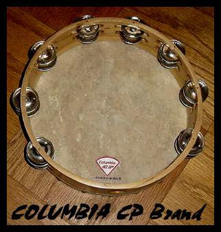 Church TAMBOURINES 10 Inches CP Brand New Double Row Jingles, Goat Skin Heads