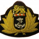 SOUTHERN  AFRICA NAVY OFFICER HAT CAP BADGE NEW HAND EMBROIDERED NEW CP MADE