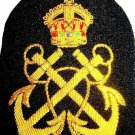HAND EMBROIDERED NEW UK PETTY OFFICER GOLD BULLION HAT BADGE CP MADE USA FREE SH