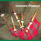 NEW IMPORTED FULL SIZE NATURAL COCUS WOOD SCOTTISH BAGPIPES SET - FREE SHIP USA