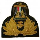 IRAQI NAVY OFFICER HAT CAP BADGE NEW - FREE SHIP IN US - CP Hand Made Hi Quality