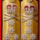 NEW UK ROYAL NAVY HARD SHOULDER BOARDS 4 STARS ADMIRAL RANK - Hi Quality CP Made