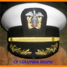 US NAVY COMMANDER CAPTAIN RANK WHITE HAT CAP NEW Size 57, 58, 59, 60, 61