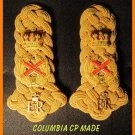 British FIELD MARSHALL GOLD ON GOLD Epaulettes Shoulder Boards Myler - CP MADE