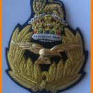 ROYAL AIR FORCE HAT CAP COMMODORE Bullion Badge KING CROWN - FREE SHIP IN USA