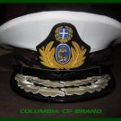 GREEK NAVY COMMANDER ADMIRAL RANK WHITE HAT CAP NEW Size 56, 57, 58, 59, 60, 61