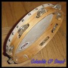 SIX (6) Church TAMBOURINES 10 Inches CP Brand New Single Row Jingles Goat Skins