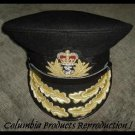 ROYAL NAVY ADMIRAL OFFICER BLACK HAT CAP NEW Size 57, 58, 59, 60, 61, 62 Sizes