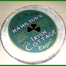 "CP Brand New Bodhran Size 18"" Hand Carved Natural Brown, Printed Name HAMILTON"