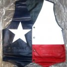 TEXAS FLAG COLOR LEATHER VEST NEW 2015 STOCK. ALL SIZES - HI QUALITY - CP BRAND