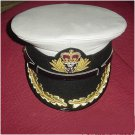 ROYAL NAVY OFFICERS HAT CAP CAPTAIN RANK WHITE NEW Size 57, 58, 59, 60, 61, 62