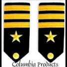NEW US NAVY OFFICER HARD Shoulder Boards FOR COMMANDER Rank - CP MADE