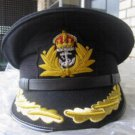 ROYAL NAVY OFFICERS HAT CAP CAPTAIN RANK BLACK NEW KING CROWN BADGE MOST SIZES