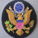 USA COAT OF ARM BADGES NEW HAND EMBROIDERED CP MADE - EXCELLENT QUALITY 3-1/2""
