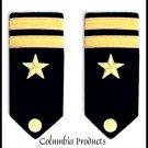 NEW US NAVY HARD Shoulder Boards LIEUTENANT Rank CP Brand - Hi Quality