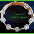"""CP TAMBOURINES New Double Row Jingles HEADLESS 10"""" Size - CP MADE"""