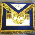 MASONIC REGALIA SET MASTER MASON APRON  COLLAR CUFFS & GLOVES PAIR BLUE CP MADE
