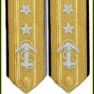 NEW US NAVY HARD Shoulder Boards REAR ADMIRAL 2 Stars - Hi Quality CP MADE