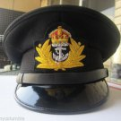 ROYAL UK NAVY OFFICERS HAT CAP BLACK NEW KING CROWN BADGE MOST SIZES HI QUALITY