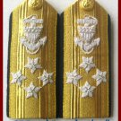 NEW US COAST GUARD Shoulder Boards ADMIRAL 4 Stars Pair - Hi Quality - CP MADE
